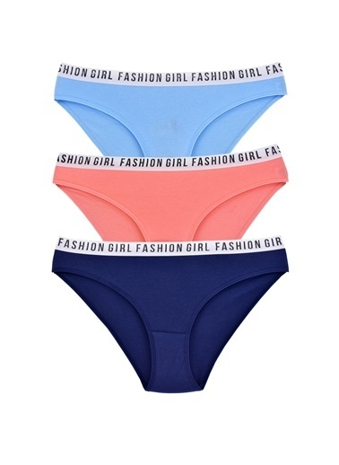 Pemilo Kadın 611 Hera Fashıon Girl Bel Lastikli 3'lü Bikini Külot RENKLİ Renkli